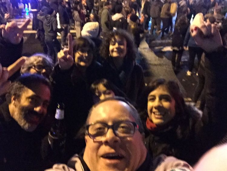 Partying with friends on Broad Street after the Eagles victory Philadelphia Eagles Gobirds Flyeaglesfly TheSidewalksOfTheCity ATouristInMyOwnCity ScenesFromTheStreet MyExoticFriends