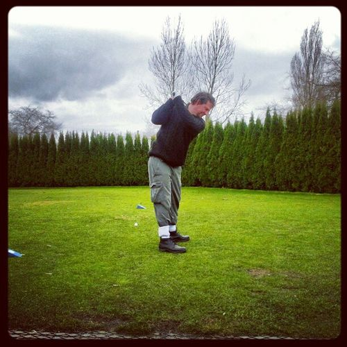 Golfing Teeoff Delta Cloudyday greens practice Billy