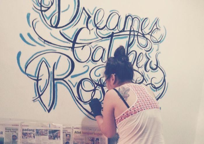 dreamer catchers rosses. Wall Art Art Interior Design Tattooed Girl