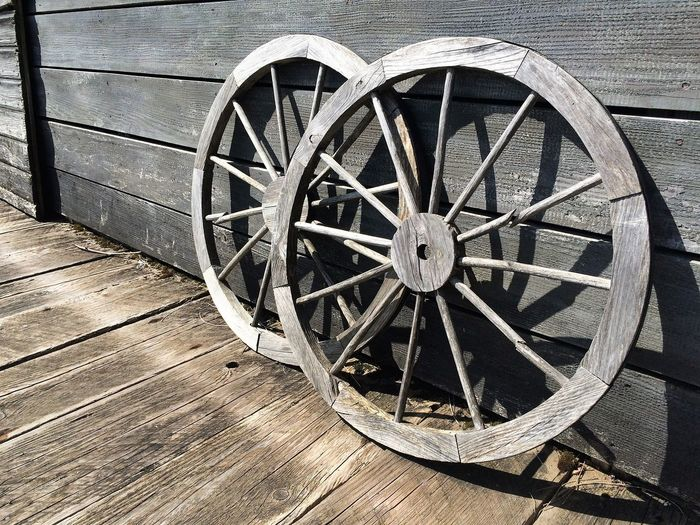 Wagon Wheels Day No People Old-fashioned Outdoors Wagon Wheel Weapon Wheel Wood - Material