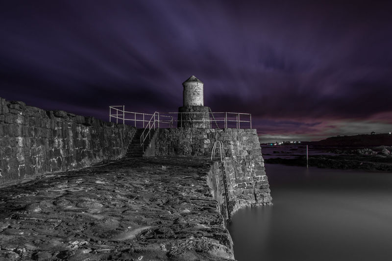 Pittenweem Harbour East Neuk Lighthouse Nikon Nikon D7200 Architecture Building Exterior Built Structure Cloud - Sky Dramatic Dramatic Sky Long Exposure Night Nikonphotography No People Onecolour Pauldroberts Pittenweem Purple Sea Seascape Sky Water