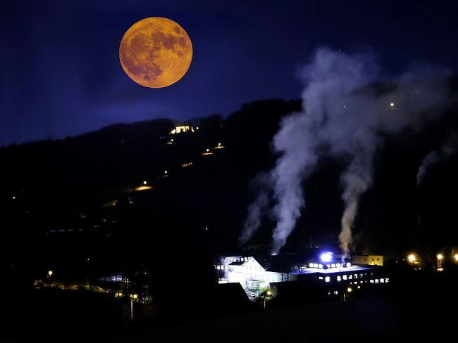 Emba Krkonose Paseky Nad Jizerou Architecture Beauty In Nature Building Exterior City Illuminated Luna Moon Měsíc Nature Night No People Outdoors Scenics Sky