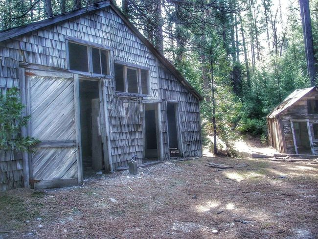 Barely standing. The struggle is real. Abandoned Buildings State Park  Malokoff Diggins Hydraulic California Goldmining Abandoned