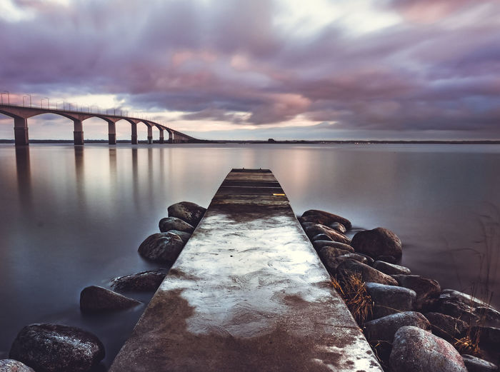 Beauty In Nature Cloud - Sky Day Jetty Lake Nature No People Outdoors Scenics Sky Sunset Tranquil Scene Tranquility Water