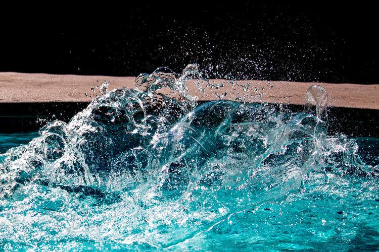 Water splashing at swimming pool