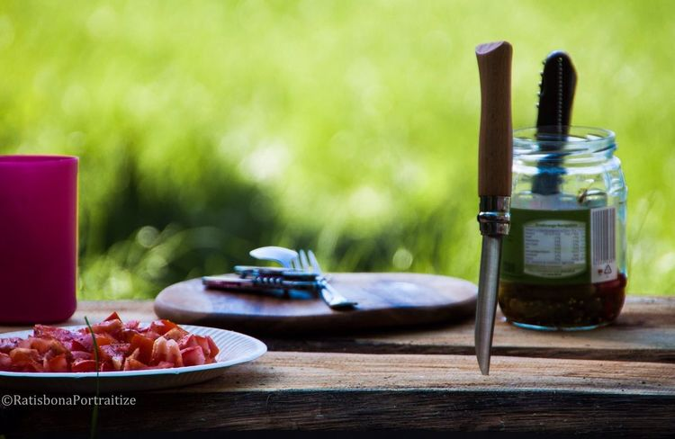 Enjoying Life Hanging Out EyeEm Best Shots Picknick Opinel Knife Tomatoes Breakfast The Great Outdoors With Adobe