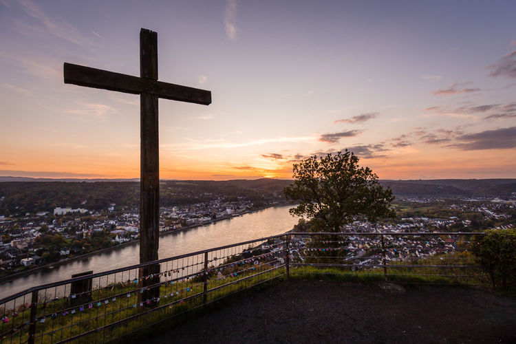 Valley of the River Rhein, Erpeler Ley, Germany Bonn Cologne Cross Rhein Rhine Romantic Erpel High Angle View Landscape Ley Rhine River River Sunset Vacation Valley Viewpoint
