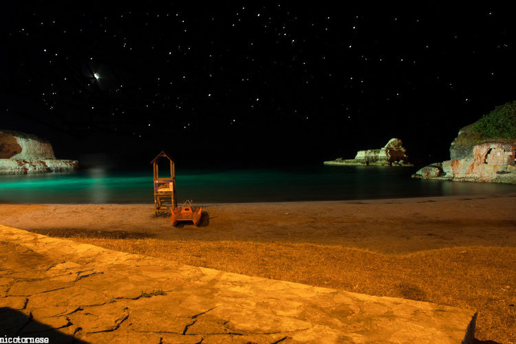 Night Beauty In Nature Outdoors Water No People Nature Sky Galaxy Astrology Sign Star - Space Astronomy Puglia Salento Puglia Salento Nature Horizon Over Water Scenics Travel Destinations Beauty In Nature Sea Italy Italia