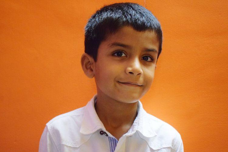 EyeEm Selects Portrait Headshot Studio Shot Colored Background Looking At Camera Close-up Orange Background Pretty Orange Color