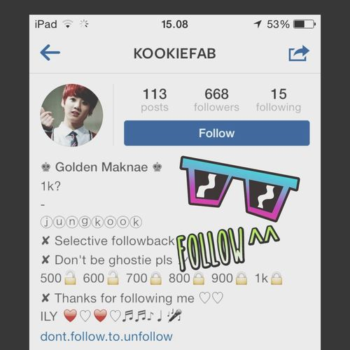 Folllow the golden maknae insta Kpopshoutout Kpop