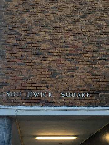 Brick Wall Decay Sign Brick Wall Capital Letter