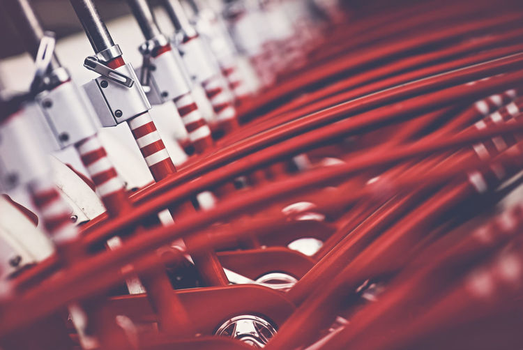 Many red bicycles Barcelona Bicycles Bike City Close-up Depth Of Field Fitness Getting Around Group Of Objects In A Row Lined Up Many Parked Parked Bike Pedal Public Transportation Red RENT Rows Of Things Share Street Photography Tourism Transportation Travel Urban