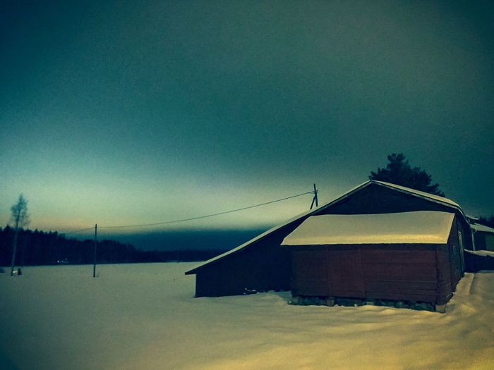Christmas time Night Farmland Sky No People Nature Outdoors Built Structure Winter Cold Temperature Snow