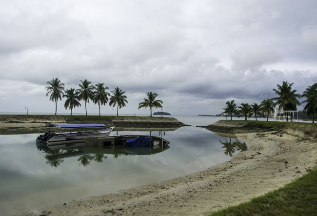 abandoned boat Boat Beach Landscape Nature Travel Agriculture Sea Tranquility Sky Stilt House Outdoors Day