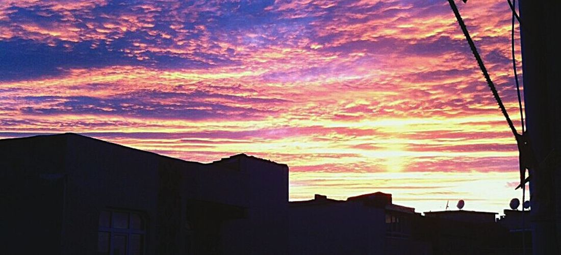 Multi Colored Sunset Sky Architecture Building Exterior Built Structure Cloud - Sky