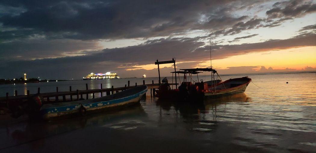 The Mobile Photographer - 2019 EyeEm Awards Nautical Vessel Sea Water Sunset Beach Panoramic Ship Reflection Oil Pump Sky My Best Photo