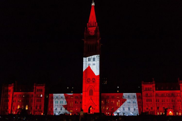 Wishing everyone a very Happy Canada Day! Canada Canadaday Ottawa Ottawa Parliament Parliament Building Ontario Amazing View Celebration Long Weekend Holiday Patriotism Light Show Feeling Proud Canada Flag Red And White Celebrating