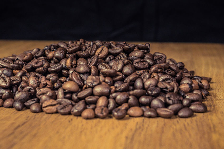Brown Roasted Coffe Beans Beans Aromatic Close-up Coffe Coffe Beans Coffee - Drink Food Food And Drink Freshness No People Roasted Coffee Bean