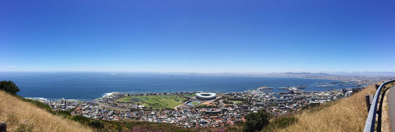 View from Signal Hill Green Point Stadium Capetown Cape Town Signal Hill Cape Town, South Africa Harbour African Landscape Landscape Scenery Scenic View Africa Ocean Ocean View View Sea And Sky Seascape Landscape_Collection Sunny Day Sun Holiday Roadtrip