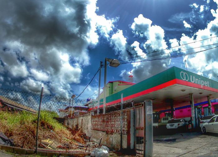 Trinidad And Tobago Check This Out Fish-eye Lens Clouds And Sky Gasstation HDR Streetphotography Hdrphotography