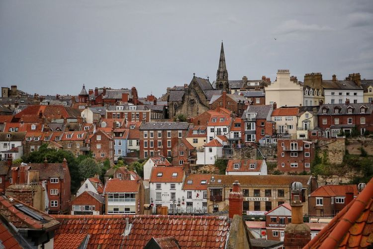 Whitby Whitby Abbey Whitby Bram Stoker Building Exterior Architecture Built Structure Building Residential District City Roof Crowd Community Sky House Town Crowded Nature Day Human Settlement Outdoors TOWNSCAPE Cityscape Row House