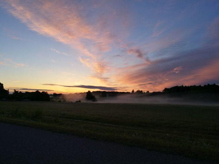 Sunrise Sky Fog