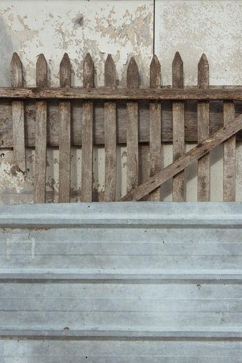 Full frame shot of old wooden staircase