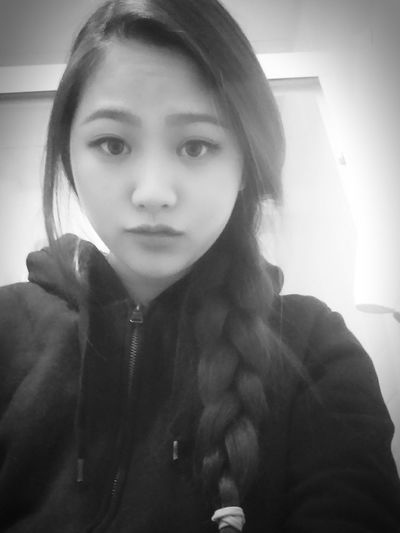 Black And White Selfie That's Me Self Portrait