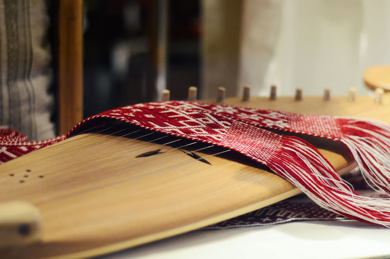psaltery, Latvian kokles, zither, ancient traditional folk instrument with decoration String Musical Instrument Music Harp Instrument Zither Baltic Culture Decoration Folk Kokle Latvia Latvian National Play Plucked Sound Traditional Vintage Wood - Material Box Musical Art Hand Design