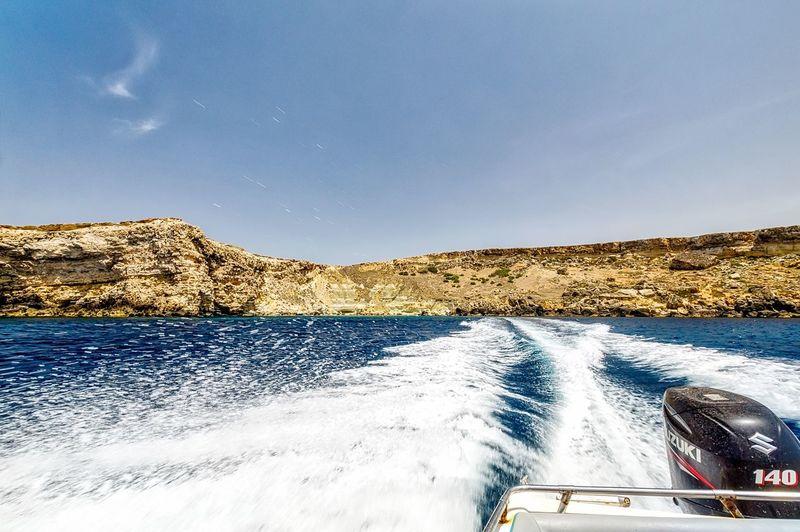Speedboat Fun FunRide Fun Ride Sea Sea And Sky Landscape The Great Outdoors - 2016 EyeEm Awards Speed Malta Maltaphotography On The Way