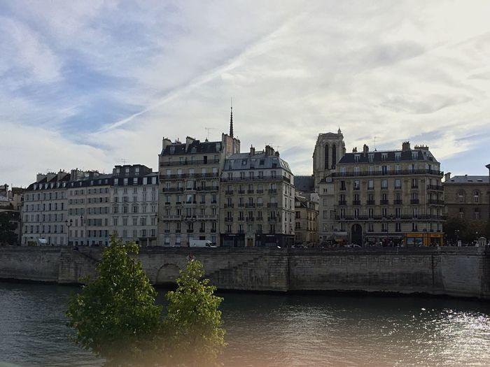Paris Water River Seine Architecture Waterfront River City Light Autumn