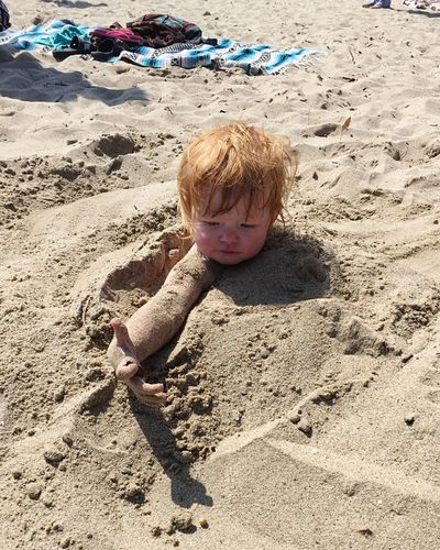Vacation Beachphotography Enjoying The Sun Buried In Sand Fun With Family Beach Photography Beach Day