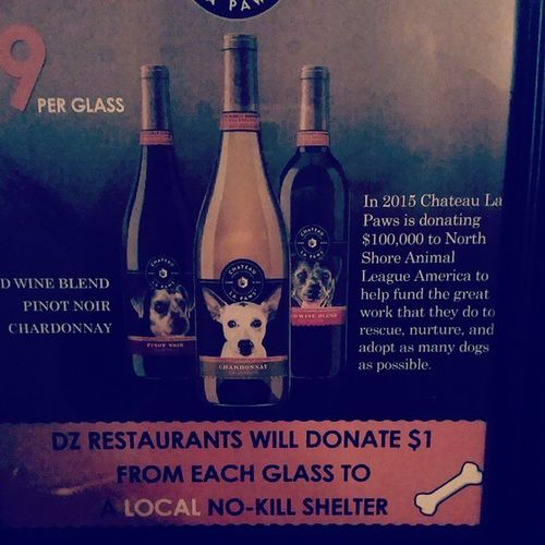 Saw this at Fornobistro .... love this!! Too bad I'm pregnant or would have definitely gotten a glass. Chateaulapaws Northshoreanimalleague Saveastray winewithbenefits