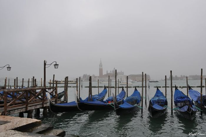 #foggy #Morning #Venice #Venezia #Italy #Italia #Europe Cultures Day Gondola - Traditional Boat Nautical Vessel No People Outdoors Sky Travel Destinations Water