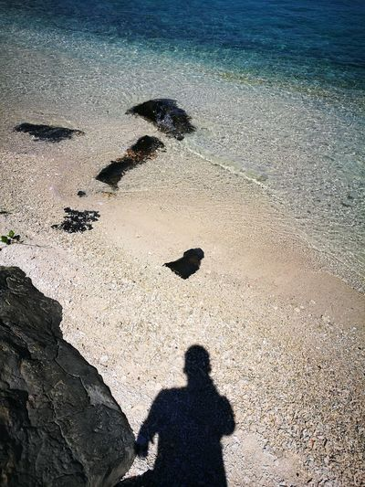 My Shadow Everywhere Sand Beach Sunlight Shadow Sea The Purist (no Edit, No Filter) Beauty In Nature Huahineisland