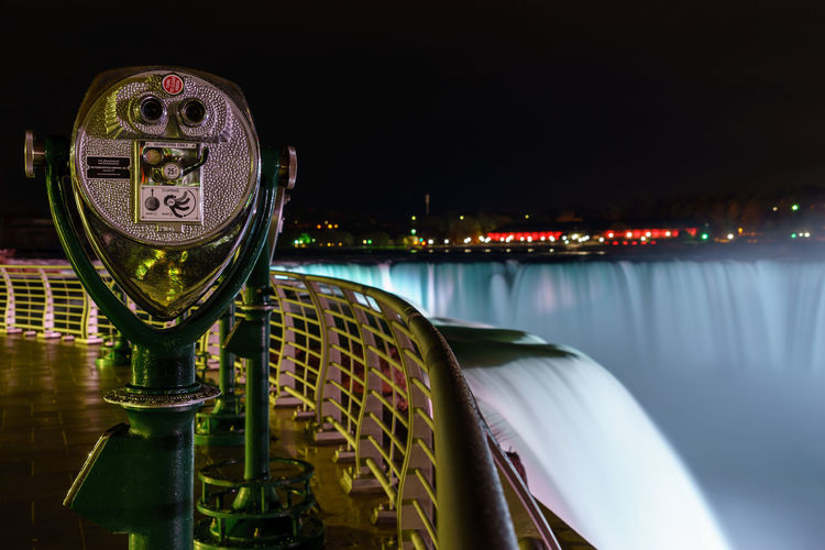 Scenic View Of Niagara Falls At Night