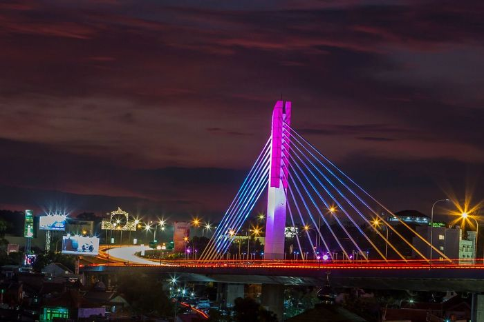 Pasupati bridge, Bandung Indonesia INDONESIA Bandung Pasupati Illuminated Night Sky Architecture Built Structure Cloud - Sky Mobility In Mega Cities Bridge - Man Made Structure City Travel Destinations Cityscape First Eyeem Photo