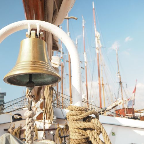 Bell Focus On Foreground Harbor Mode Of Transportation Nautical Vessel Rope Sailboat Sailing Sea Transportation Yacht