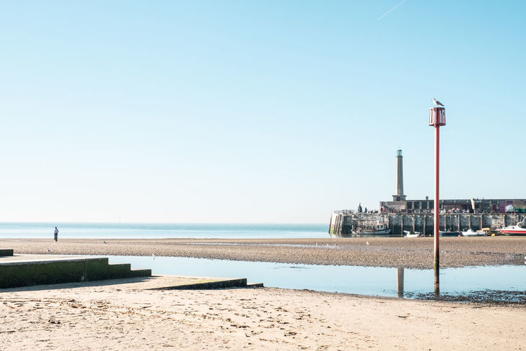 The Harbour Arm, Margate, Kent, UK Margate Kent Harbour Arm Harbour Harbor Sea Beach Blue Sky Day Outdoors Coast Sands Water Clear Sky Nature Copy Space