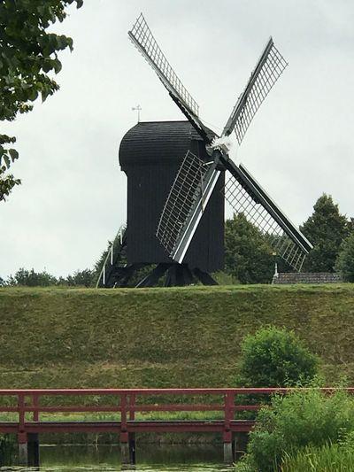 Wind Power Windmill Alternative Energy Wind Turbine Renewable Energy Traditional Windmill Outdoors