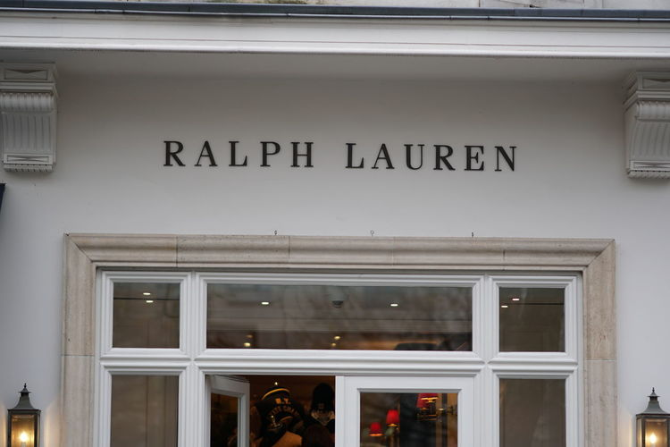 Bruxelles, Belgium - December 9, 2017: Ralph Lauren store. The American Ralph Lauren Corporation is known for the clothing, marketing and distribution of apparels, accessories, and fragrances Clothes Store Fashion Ralph Lauren Sign Signage Billboard Brand Building Exterior Clothes Shop Clothes Shopping Clothing Shop Clothing Store No People Outdoors Raplhlauren Signboard