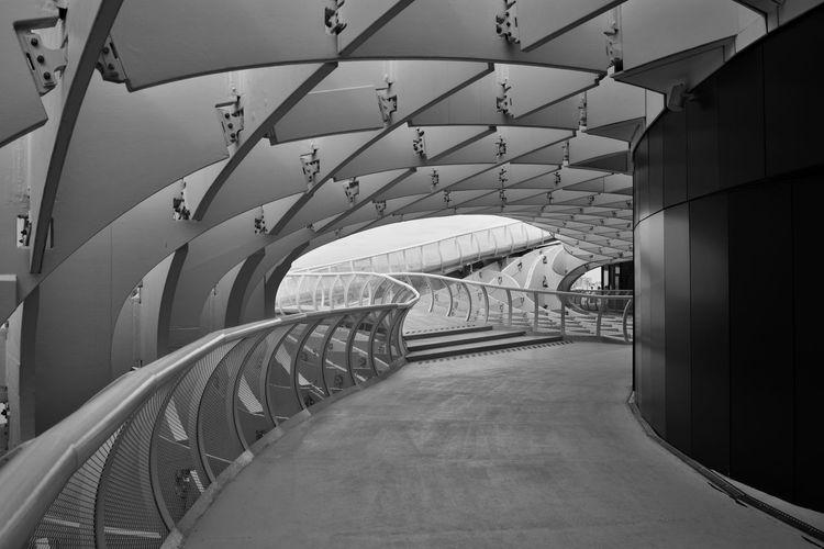 Empty corridor of modern building