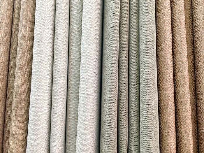 Full frame shot of multi colored curtains