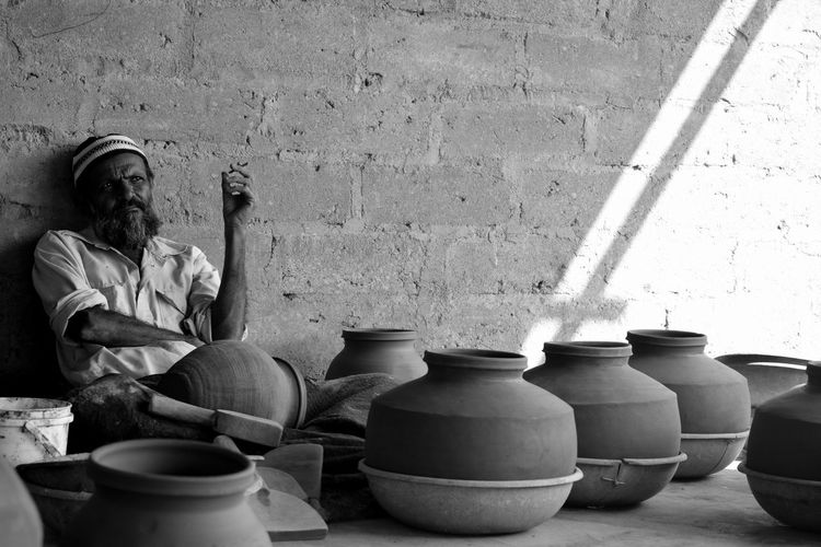The potter and his proud pots! Bond Crafts Lifestyles Patronage Pottery Pride First Eyeem Photo