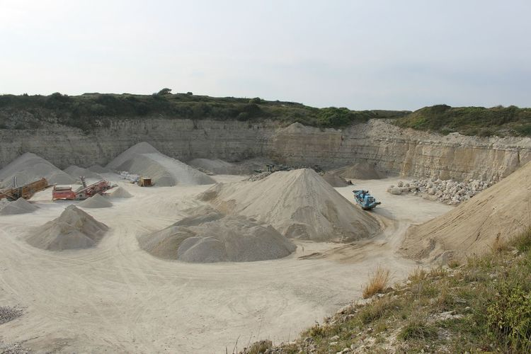 View Of Sand Mine