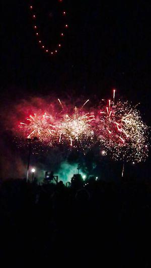 Illuminated Firework Outdoors Multi Colored Celebration