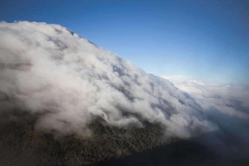 Acatenango volcano shrouded by a layer of cloud. Acatenango Beauty In Nature Cloud - Sky Day Guatemala Guatemala View Nature No People Outdoors Scenics Sky Volcano