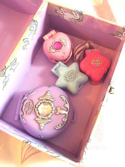 Trinket box of nostalgia ✨👑🎀👸🏼💞 Childhood 90s Nostalgia Cute Polly Pocket Trinket Toys Compact Locket 90s Toys Memories