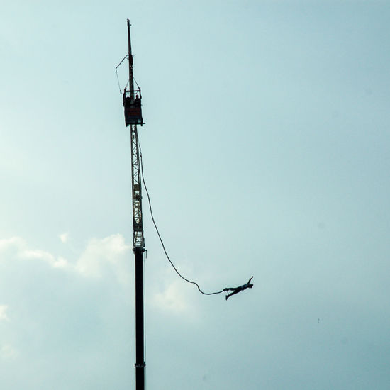 Animal Themes Antenna - Aerial Bungee Jumping Bungeejump Connection Day Kran Low Angle View Nature No People Outdoors Sky Technology