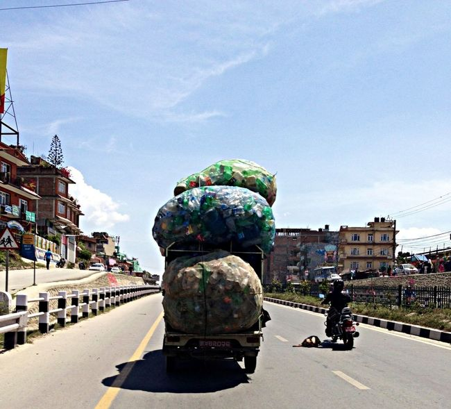 Wastage bottle on the way to recycle Street Photography Traveling Nepal IPSMinimalism